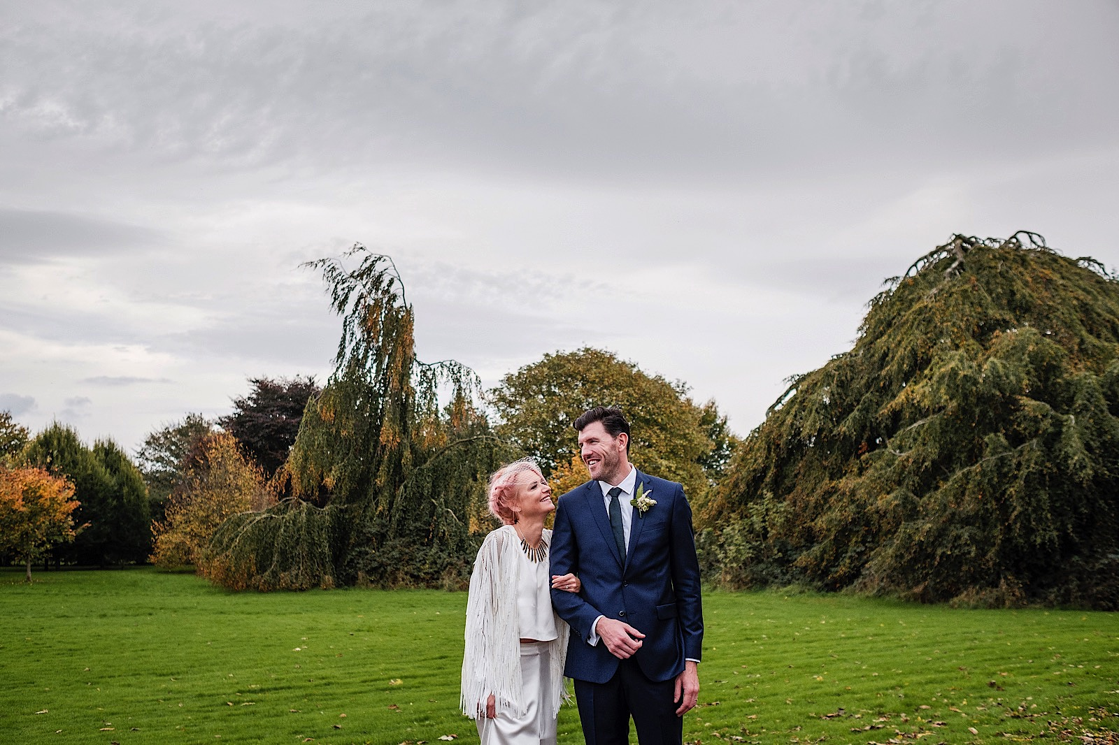 Bride & Groom in grounds of Bellinter House in Ireland