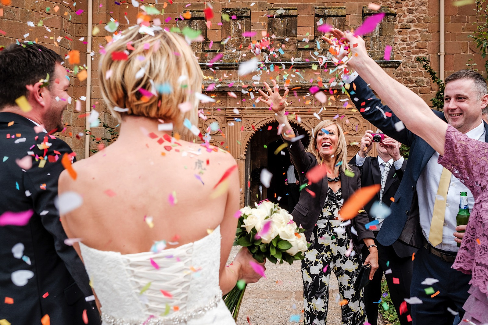 Confetti Shot by Essex Photographer