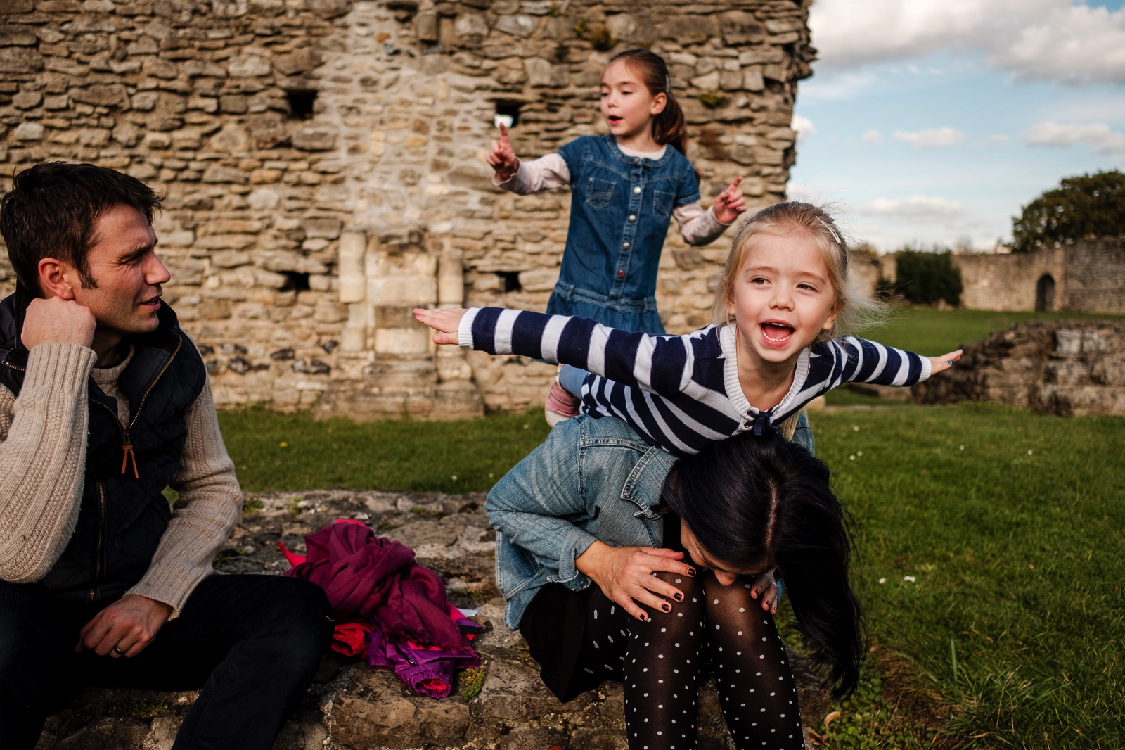 family photography shoot at Lesnes Abbey