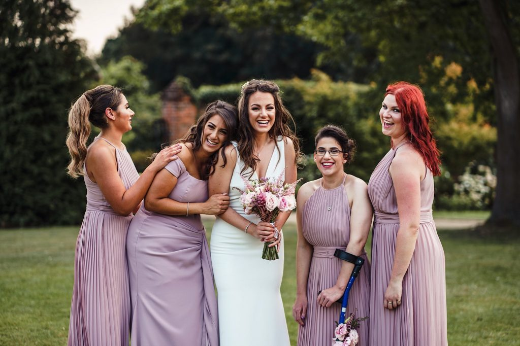 Group of Bridesmaids Laughing