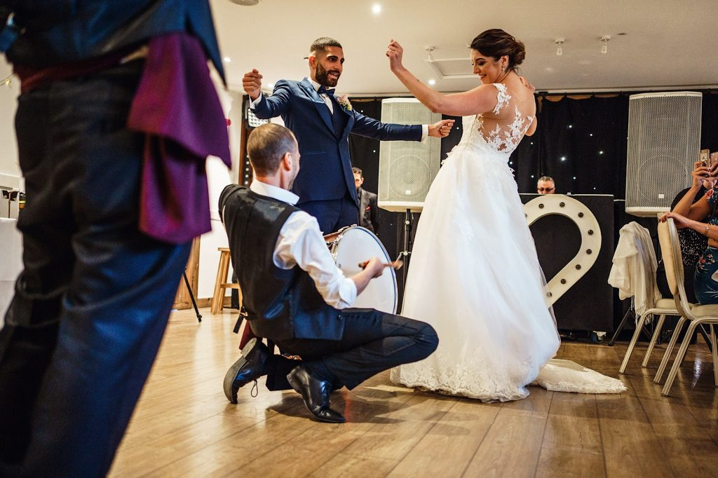 Bride and Groom dancing to a Duval and Zurna